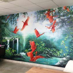 Il s'agit d'une miniature de la fresque Eden réalisée par Juliette Leenhardt pour un bureau de podologie